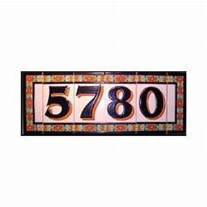 handmade spanish numbers and letters ceramic address tiles With tile numbers and letters