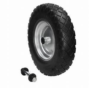 Roue Brouette 3 50 8 : 2x 15 roue de brouette pu pneu chariot noir ~ Dailycaller-alerts.com Idées de Décoration