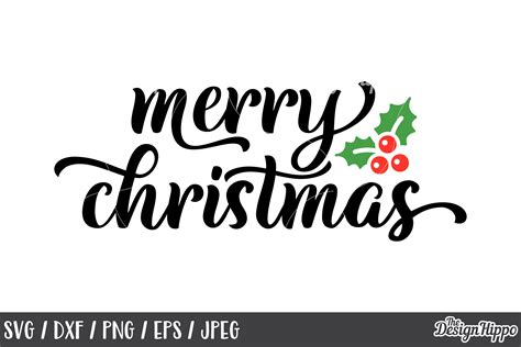 merry christmas svg mistletoe dxf png cricut cut files