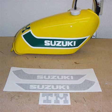 suzuki tm gas tank decal sets vintage suzuki