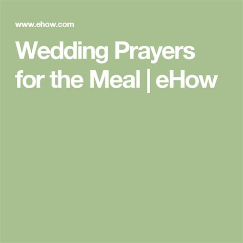 wedding prayers   meal ehow  images