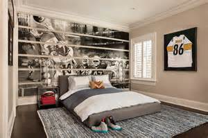 football themed room transitional boy s room garrison hullinger interior design