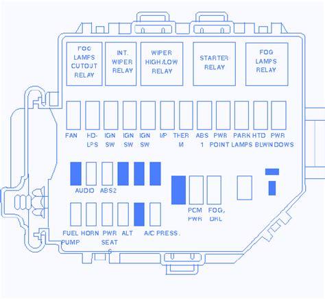 ford mustang  fuse boxblock circuit breaker diagram
