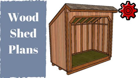 firewood shed plans youtube