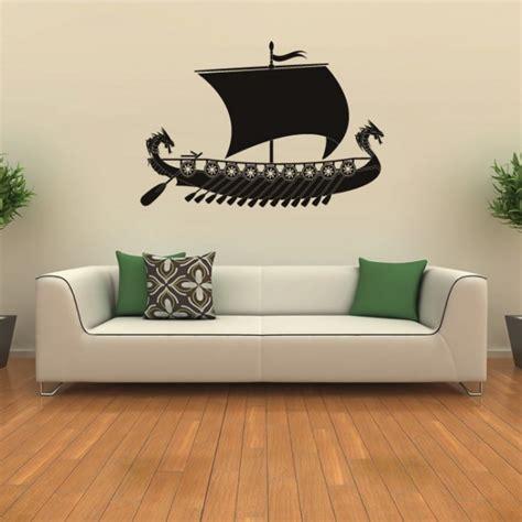 viking ship wall sticker battleship wall decal boys