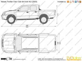 the blueprints vector drawing nissan frontier crew cab 4x4 look 4x2