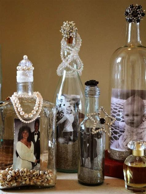 decorate   alcohol bottles  photo frame