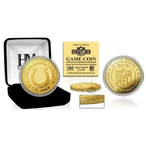 Shop Indianapolis Colts 2016 Gold Game Flip Coin Multi