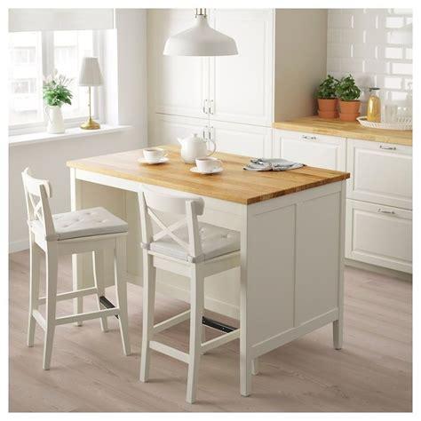 ikea tornviken  white oak kitchen island   lev