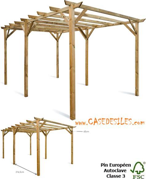 pergola bois et tonnelle bois 224 petit prix casedesiles
