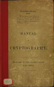 Manual Of Cryptography