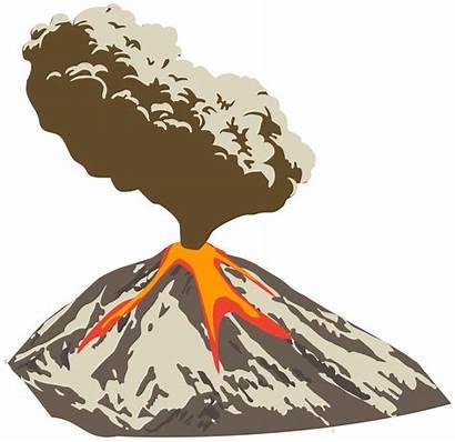 Volcano Clipart Lava Eruption Transparent Ash Cloud