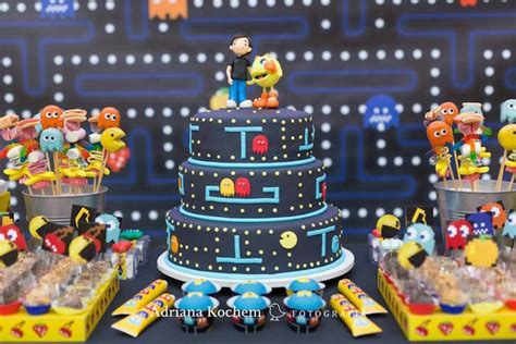 karas party ideas pac man video game birthday party