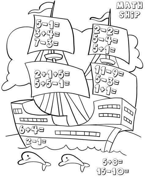 kindergarten math worksheets  coloring pages  kids