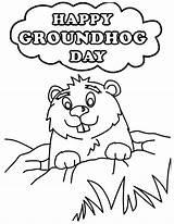 Groundhog Coloring Sheets Clip Coloringnori Clipart Results sketch template