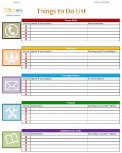 To do list template business version dotxes for Things to do list template excel