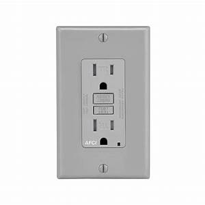Leviton Decora 15 Amp Combination Single Receptacle And