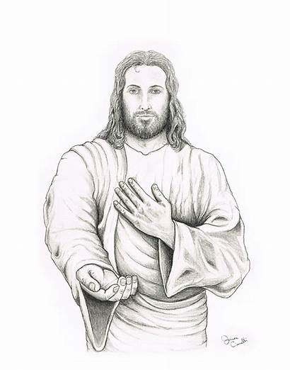 Jesus Drawings Pencil Drawing Hand Offering Cianelli