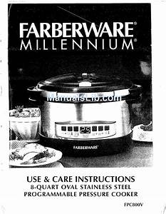 Farberware Millennium Fpc800v Use  U0026 Care Instructions