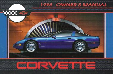 chevrolet corvette factory owners manual