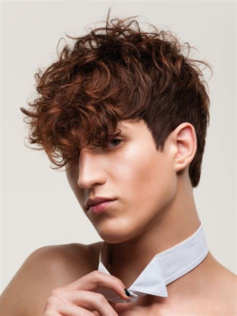 Cute examples of hairstyles for boys give him the confidence and inspiration to go to the barber. Men's haircut with a short back and longer curls towards ...