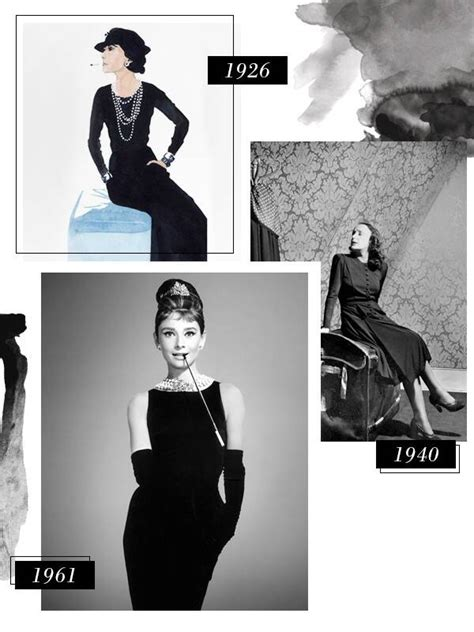 history    black dressfrom coco chanel