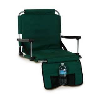 picnic plus portable stadium seat cushion with arms by