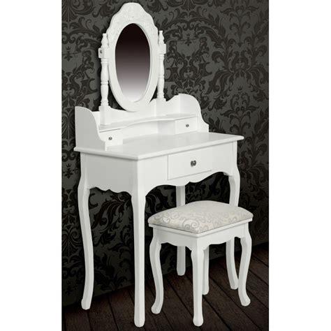 meuble coiffeuse avec miroir pas cher achat table de maquillage