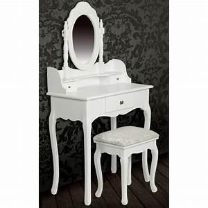 Coiffeuse Blanche Ikea : meuble coiffeuse avec miroir pas cher achat table de maquillage ~ Teatrodelosmanantiales.com Idées de Décoration
