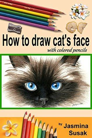 draw cats face colored pencil guides  kids