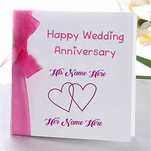 Online wedding anniversary name wish card edit photo for Wedding cards photo editor