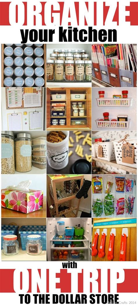 Kitchen Organization Dollar Store by Organize Your Kitchen With One Trip To The Dollar Store