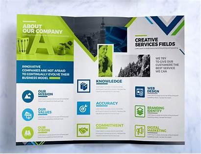 Brochure Fold Tri Inside Template Identity Corporate