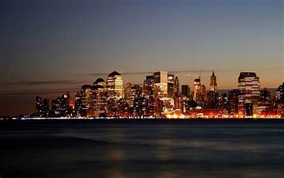 Skyline Skylines Wallpapers Wallpapersafari Manhattan