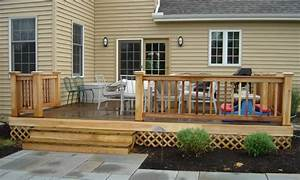 Home patios, back flush with deck house houses back deck