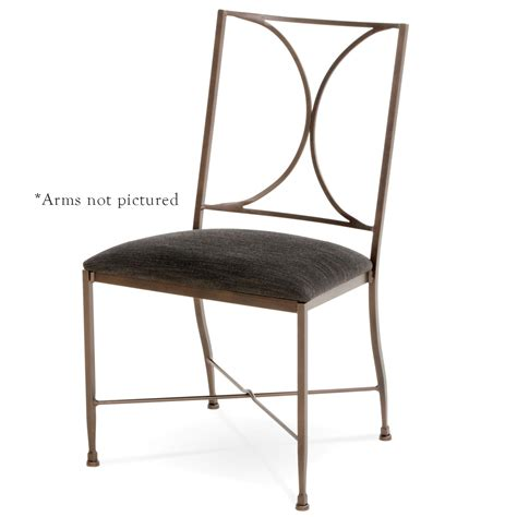 pictured here is the doughton wrought iron dining chair