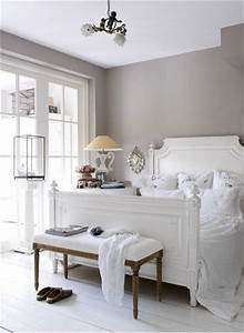 A romantic gray and white bedroom.   Bedrooms   Pinterest ...