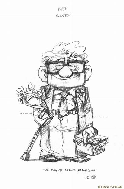 Pixar Character Concept Disney Sketches 2009 Drawing