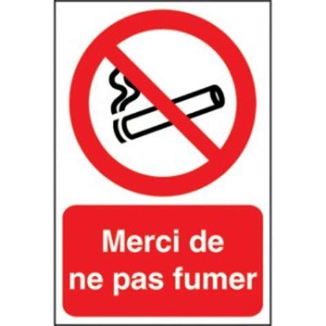 panneau merci de ne pas fumer