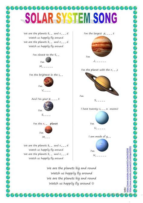 11 free esl planets worksheets