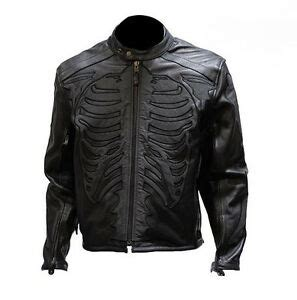 Cowhide Motorcycle Jacket by Mens Black Leather Cowhide Reflective