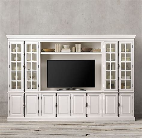 french casement media system living room wall units built ins living room entertainment center