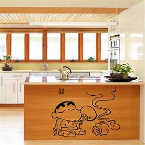 creative cartoon kitchen art mural poster decor tile With best brand of paint for kitchen cabinets with kawaii japanese stickers