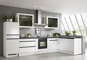 Küchen Modern Weiß : k che in schwarz wei eckk che k chen in schwarz wei pinterest ~ Markanthonyermac.com Haus und Dekorationen