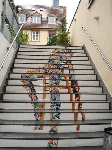 20 Awesome Stairs Street Art   Hative