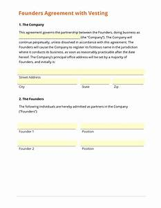 business form template gallery With vesting schedule template