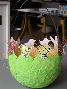 Bricolage De Paques Panier : p ques panier avec ballon de baudruche et papier m ch ~ Melissatoandfro.com Idées de Décoration