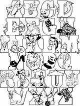 Alphabet Coloring Pages Letters Abc Crazy Zoo Fonts Cool Animal Templates Colorthealphabet Lettering Letter Alphabets Colouring Printable Fun Colorpages Coloringpages sketch template