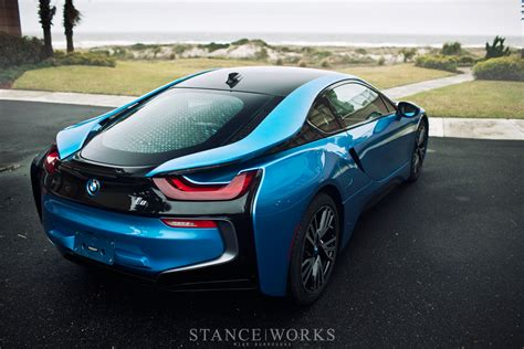Bmw I8 Black And Blue by Protonic Blue Bmw I8 Poses For Breathtaking