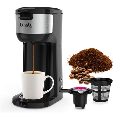 It is a compact and sleek look single cup coffee maker. Dnsly + Coffee Maker Single Serve, K-Cup Pod & Ground ...